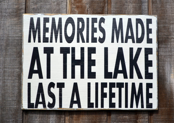 Lake House Signs, Memories Made At The Lake Sign, Custom Wooden Plaque, Lake Gifts, Decorative Cottage Style