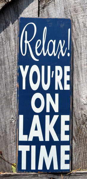 Lake Sign On Lake Time Rustic Wood Etsy Carova Beach Crafts Signs