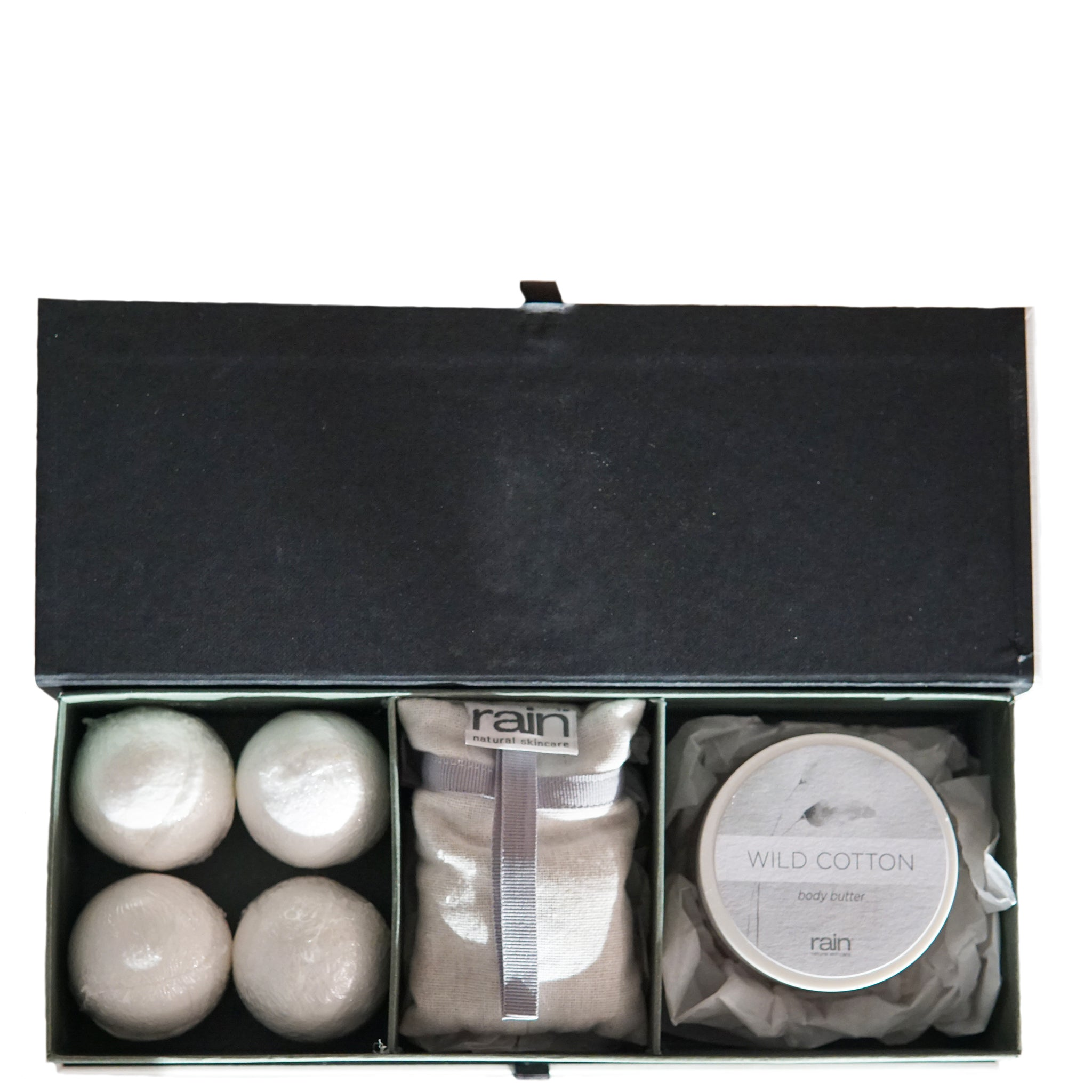 wild cotton 3-division gift box