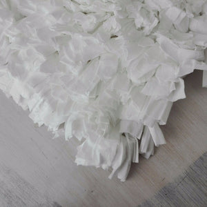 bath mat - silk white