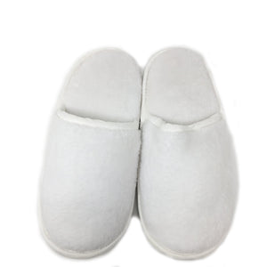slippers soft cuddle fleece white large