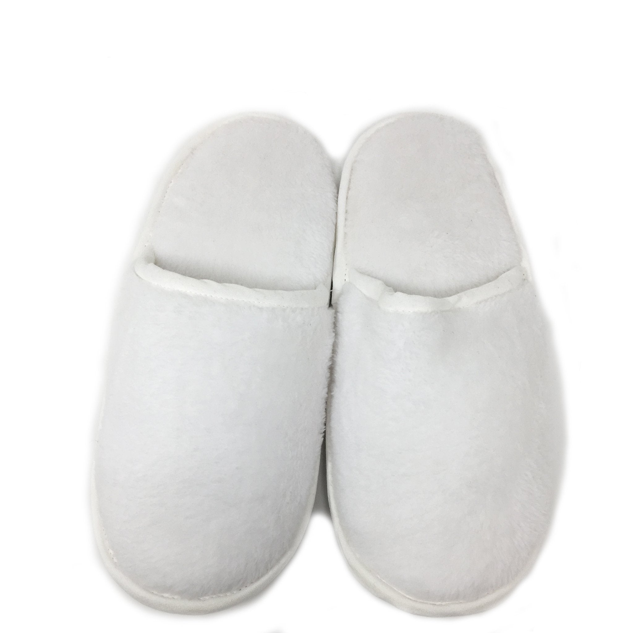 slippers soft cuddle fleece white small
