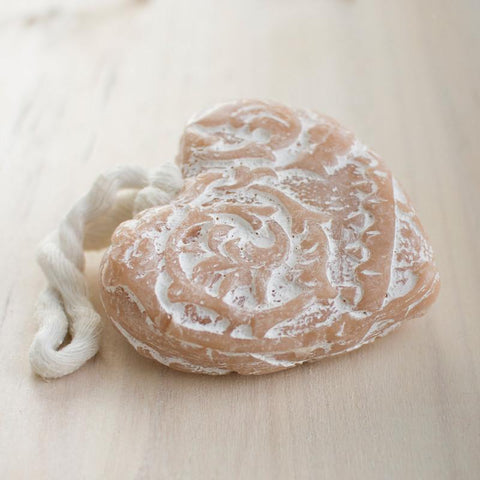 soap - carved heart soap on rope