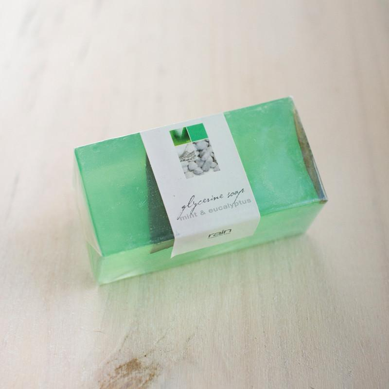 soap - glycerin wedge mint & eucalyptus
