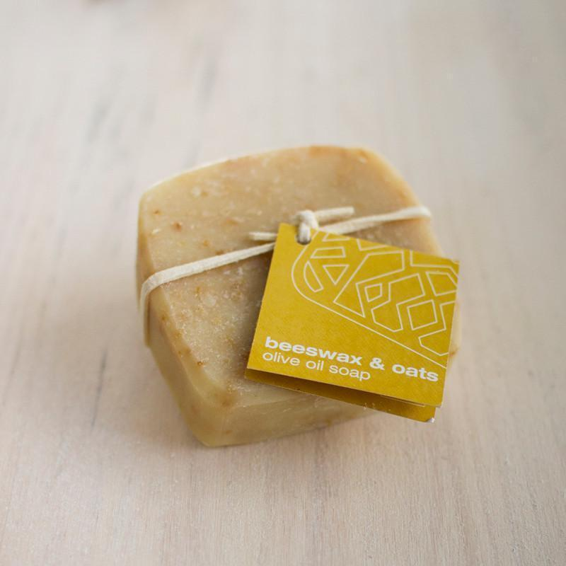 olive oil soap - beeswax & oats