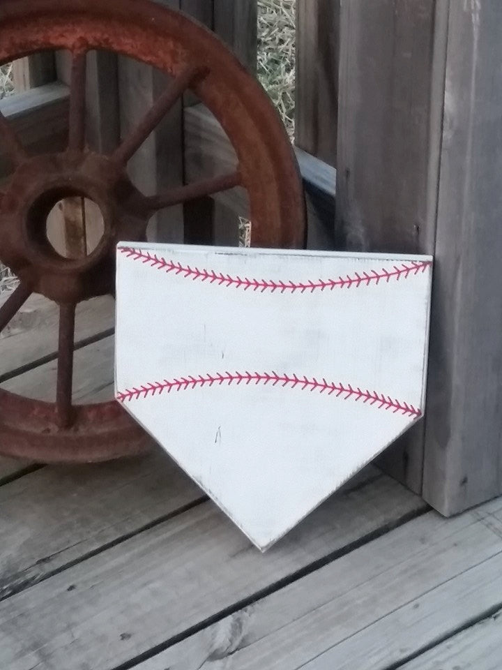 TWO Blank Home Plate Sign - Baseball Wall Decor - Do It Yourself DIY - Customize Your Own - Empty Baseball Sign - Craft Supplies - Softball