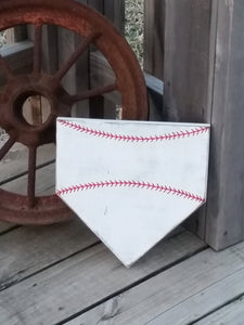 SIX Blank Home Plate Sign - Baseball Wall Decor - Do It Yourself DIY - Customize Your Own - Empty Baseball Sign - Craft Supplies - Softball