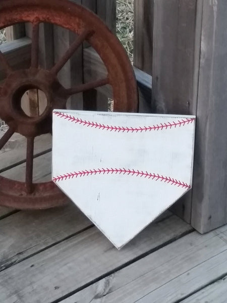 THREE Blank Home Plate Sign - Baseball Wall Decor - Do It Yourself DIY - Customize Your Own - Baseball Sign - Craft Supplies - Softball
