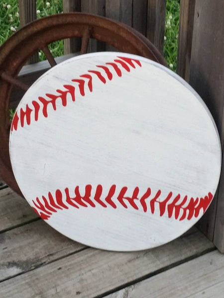 Blank Baseball Sign - DIY Softball Sign - Homeplate Sign - Large Baseball Decor - Ballgame Sign - Wooden Baseball - Wood Baseball - Plaque