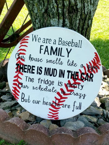 Baseball Sign - Family Baseball Sign - Wooden Baseball Sign - Sport Sign - Baseball Plaque - Softball Sign - Baseball Family - Wood Decor
