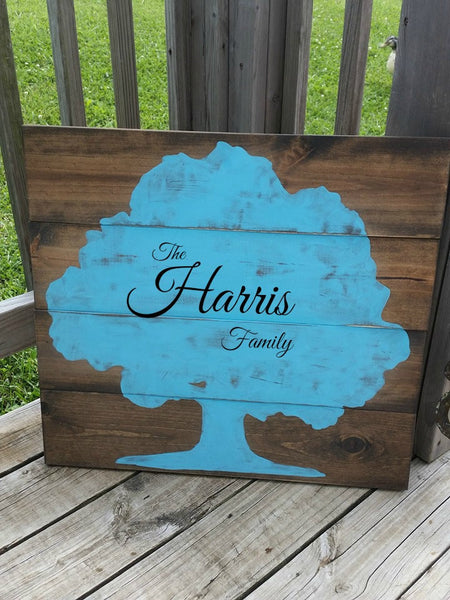LARGE Family Name Sign - Family Reunion - Large Wooden Sign - Gift for Family - Wedding Gift - Rustic Wood Name Sign - Family Tree Decor