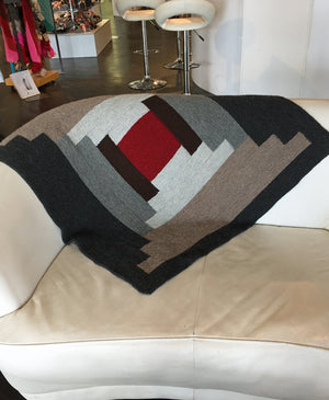 My Log Cabin Blanket by Bonne Marie Burns