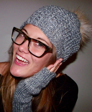 Starfighter Slouch Hat and Good Time Fingerless Mitts
