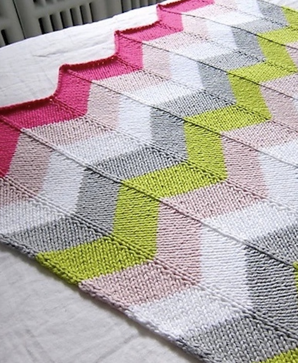 Chevron Baby Blanket Kit