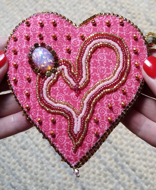 Maker Day July 2019: Beaded Heart Needle Case Class