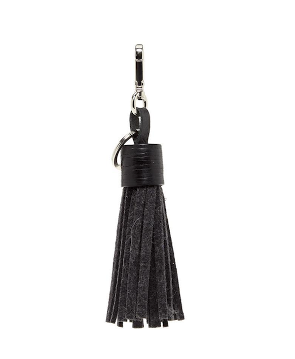 Graf Lantz Felt Tassel-charcoal/black leather