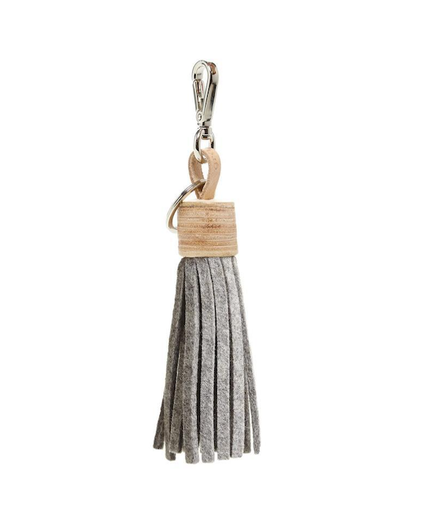 Graf Lantz Felt Tassel-Granite/natural leather