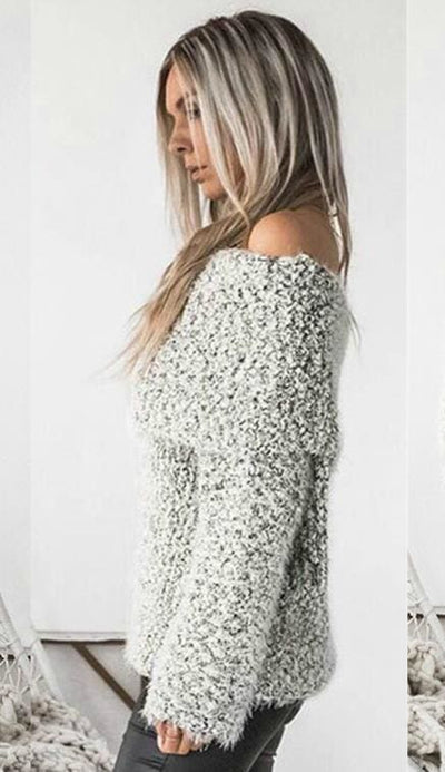 After Sundown Off Shoulder Sweater - sweater