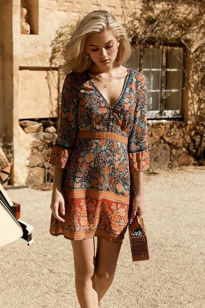 Alanna Boho Mini Dress