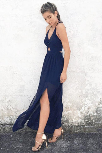 Almost Midnight Maxi Dress (Navy) - Dress