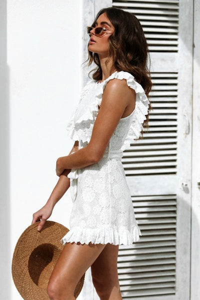 Angel Eyes White Lace Dress