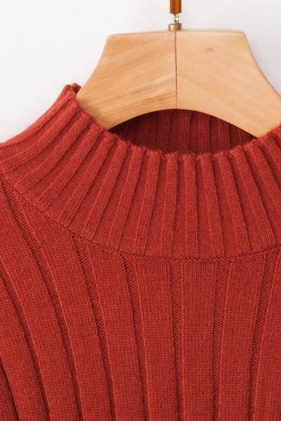 Antonina Sweater Top - Small / Rust - sweater