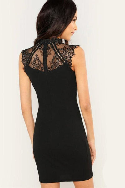 Aria Black Lace Dress - Dress