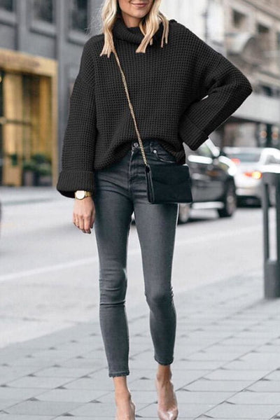 Averly Turtleneck Sweater - Small / Black - sweater