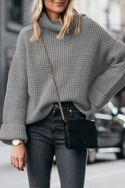 Averly Turtleneck Sweater - Small / Gray - sweater
