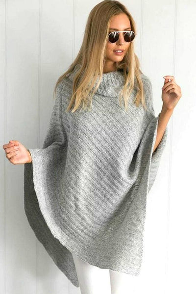 Beat the Chill Poncho - sweater