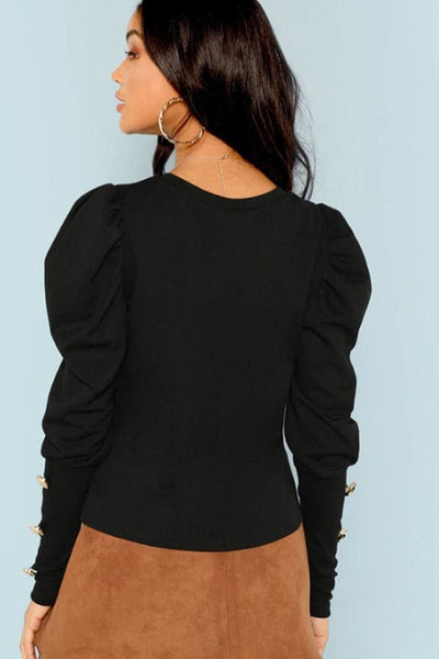 Calista Puff Sleeve Top - Tops