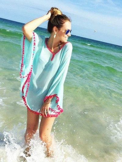 Care Free Day Pom Pom Cover Up - Tops