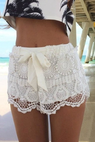 Carefree Comfort Lace Shorts - Shorts