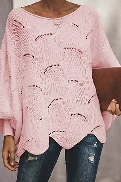Crashing Waves Sweater Top - Small/Medium / Pink - sweater
