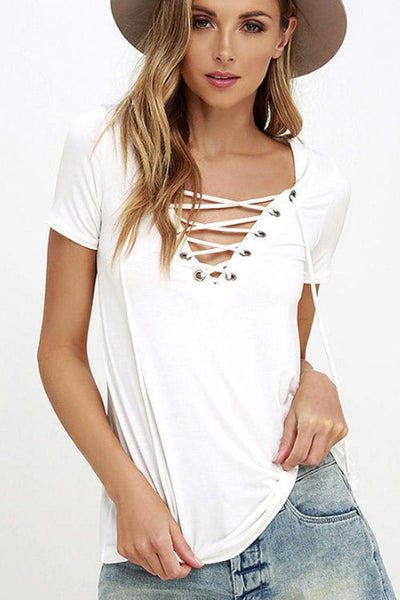 Crossing The Line Top - Small / White