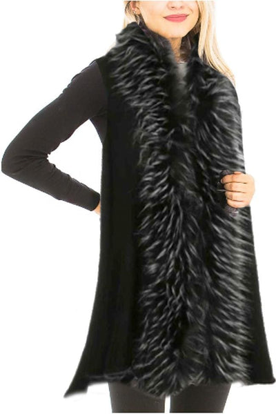 Dakota Faux Fur Vest - Tops