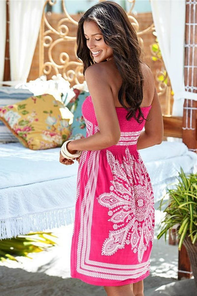 Dancing On The Beach Bandeau Dress - Dress