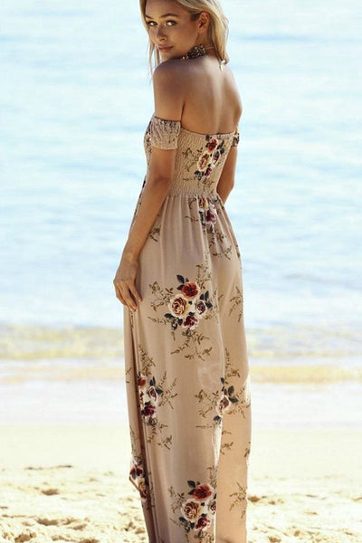 Delilah Waves Maxi Dress - Dusty Rose