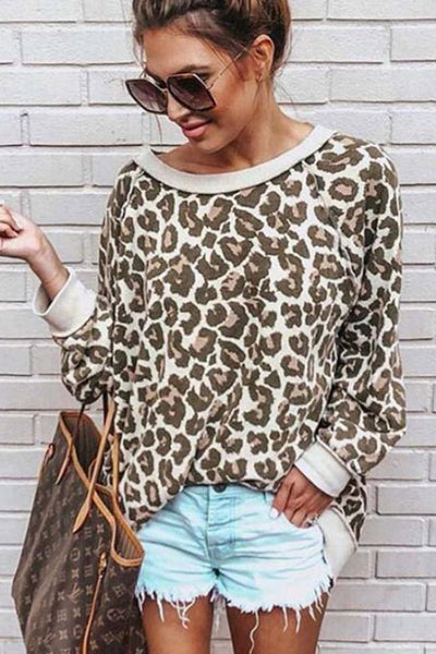 Felix Leopard Top - Small / Khaki - Tops