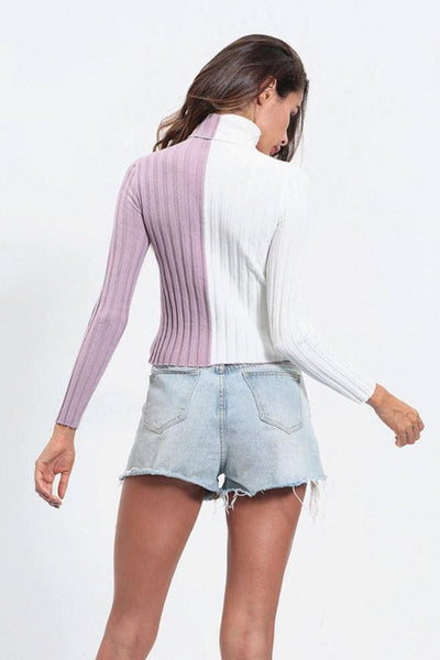 Gabrielle Turtleneck Sweater Top - sweater