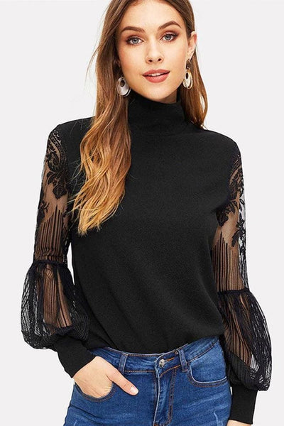 Grand Trianon Lace Blouse - Tops