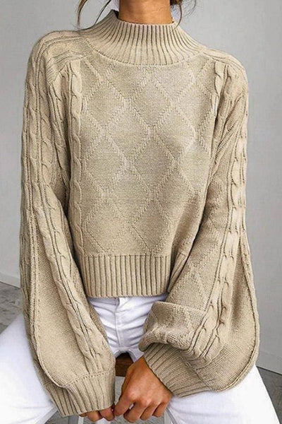 Harlow Sweater - Small / Khaki - sweater