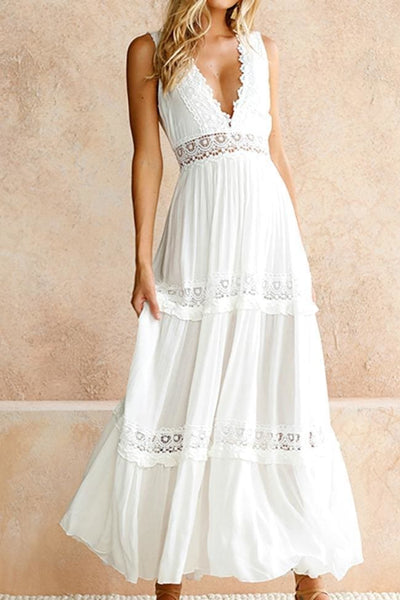 Made In Heaven White Lace Maxi Dress