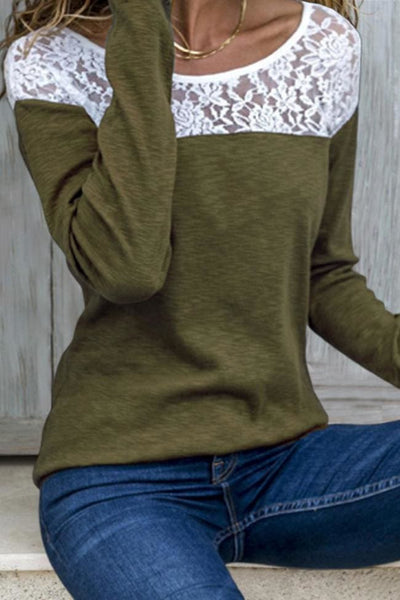Mansfield Lace Top - Small / Olive