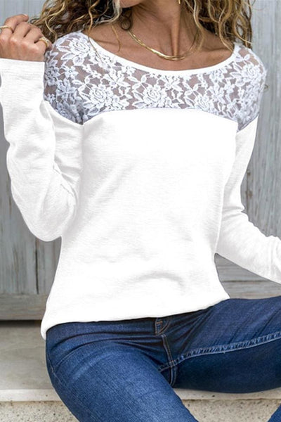 Mansfield Lace Top - Small / White