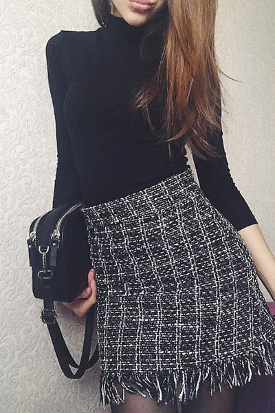 Marbury Tweed Skirt - skirt