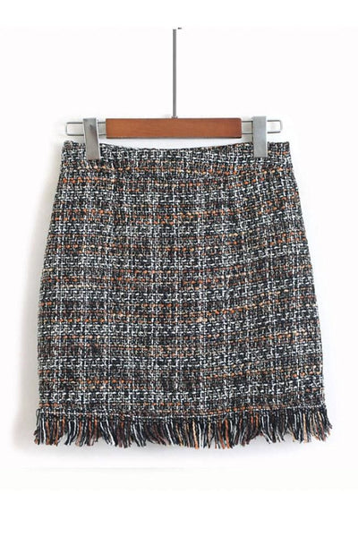 Marbury Tweed Skirt - Small / Autumn - skirt