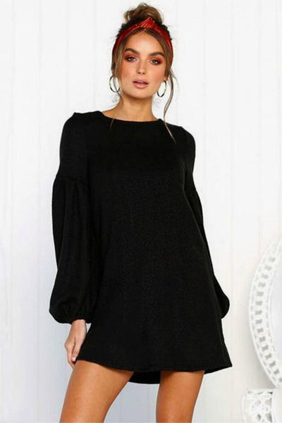 Olivia Sweater Dress - Small / Black - sweater
