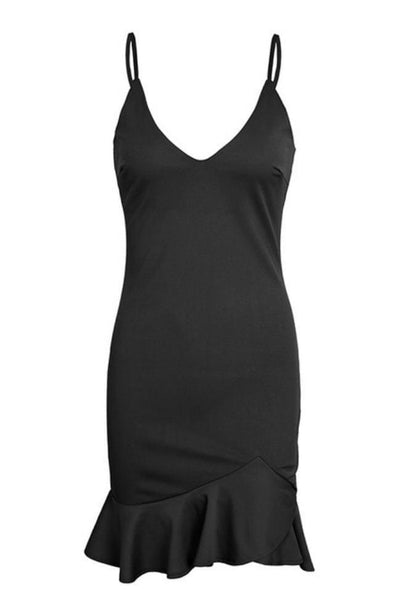 Perfect Evening Bodycon Dress - Small / Black