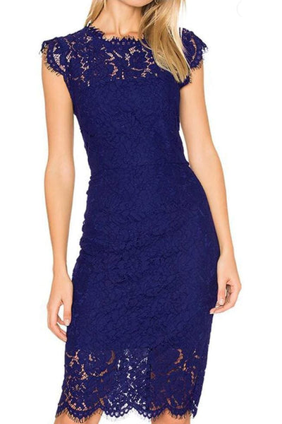 Sanford Lace Dress - Small / Sapphire - Dress